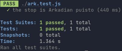 Jest command line output
