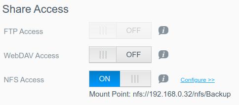 WD MyCloud Share Access