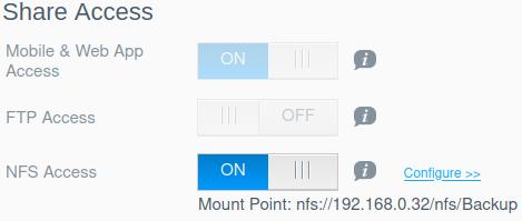 WD MyCloud Share Access OS 5